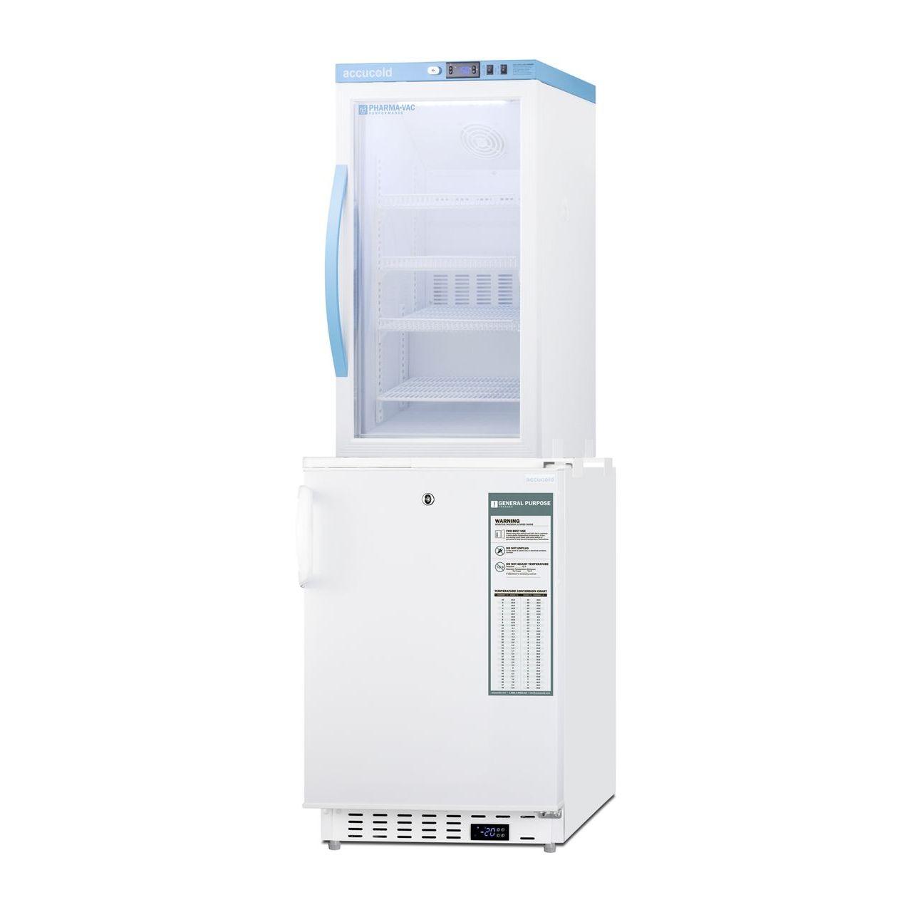 """Summit 20"""" Wide Vaccine Refrigerator/Freezer - Glass Door"""