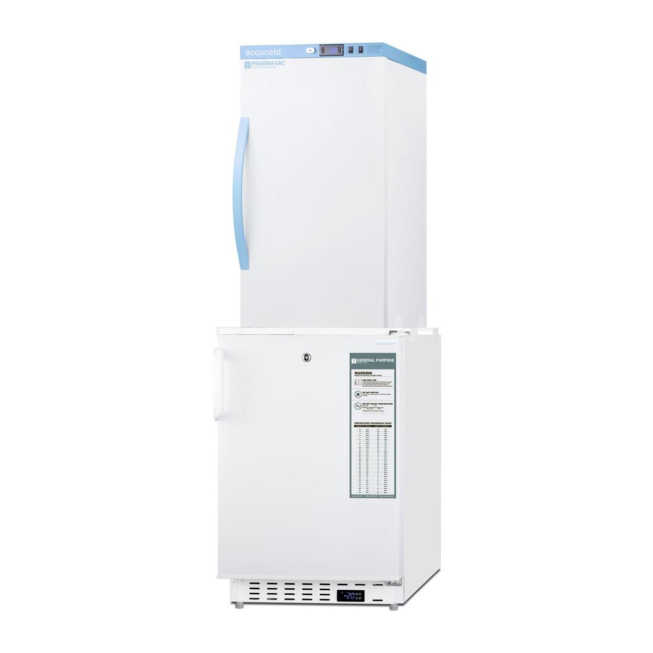 """Summit 20"""" Wide Vaccine Refrigerator/Freezer - Solid Door"""