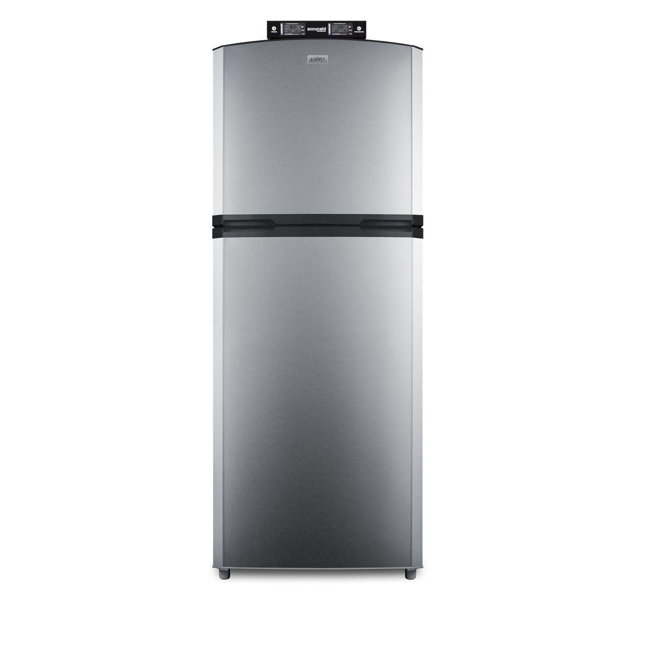 """Summit 26"""" Break Room Refrigerator/Freezer - Stainless Steel/Left Door"""