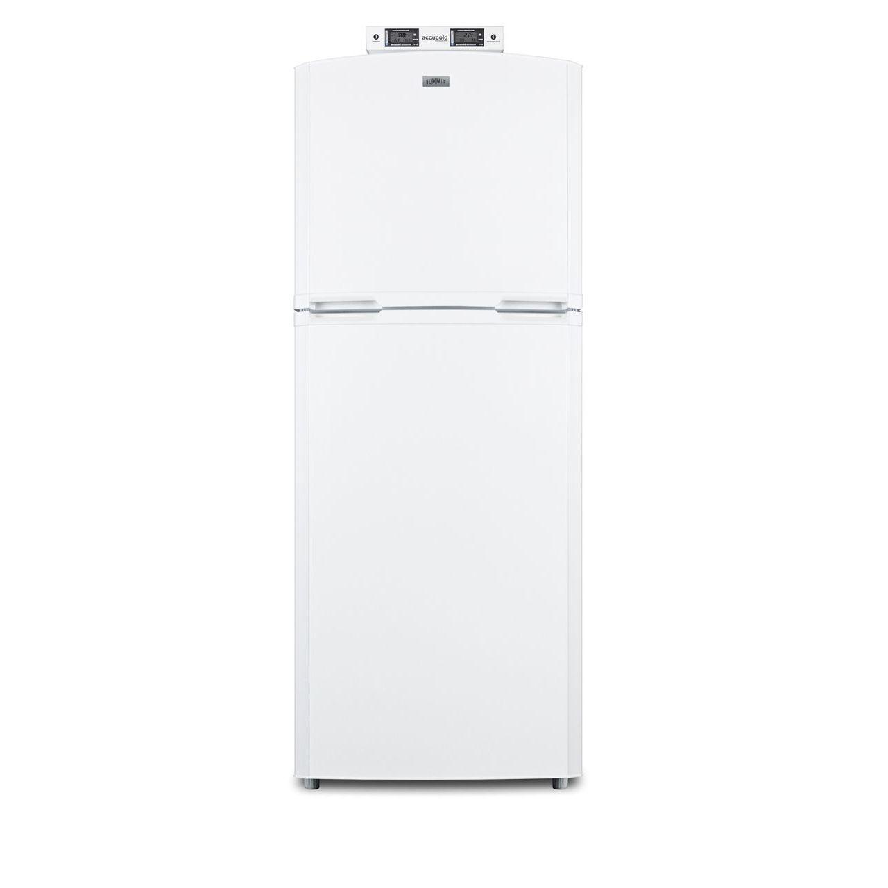 "Summit 26"" Break Room Refrigerator/Freezer - White/Right Door"