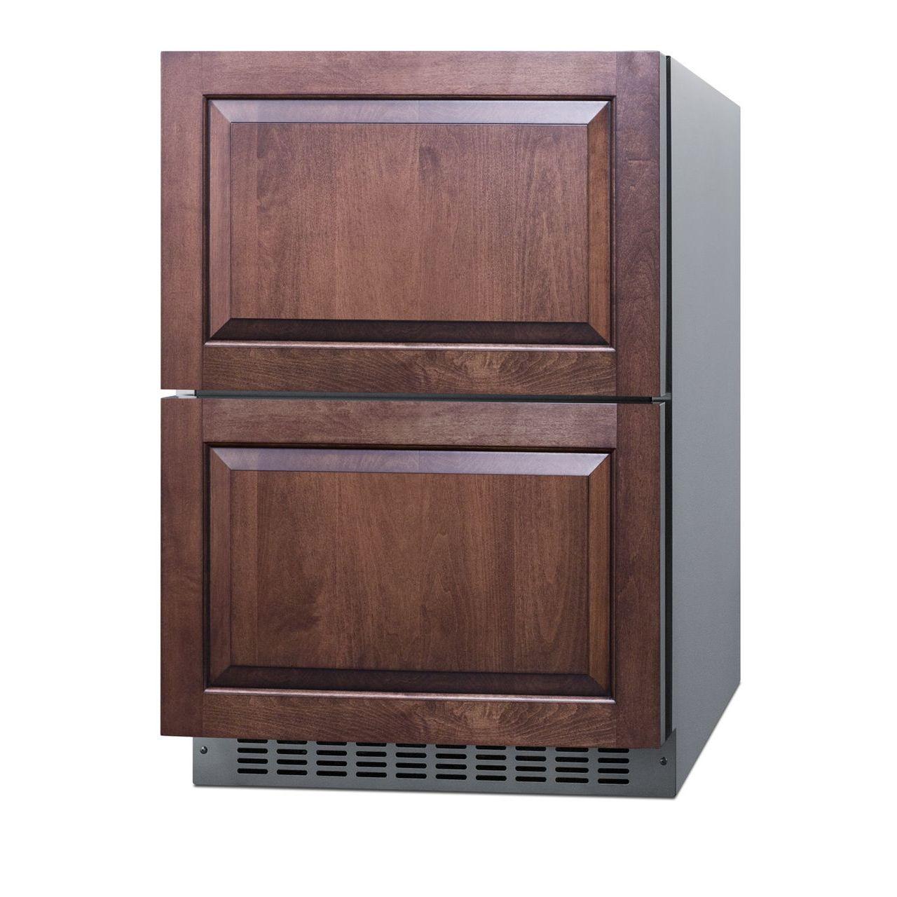 """Summit 24"""" Wide 2-Drawer Refrigerator/Freezer - Stainless Steel"""