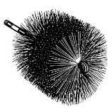 """Round Wire Chimney Brush 1/4"""" pt"""