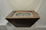 HPC 36 Inch Sierra Copper Bowl Fire Pit And Water Scupper - LP Gas