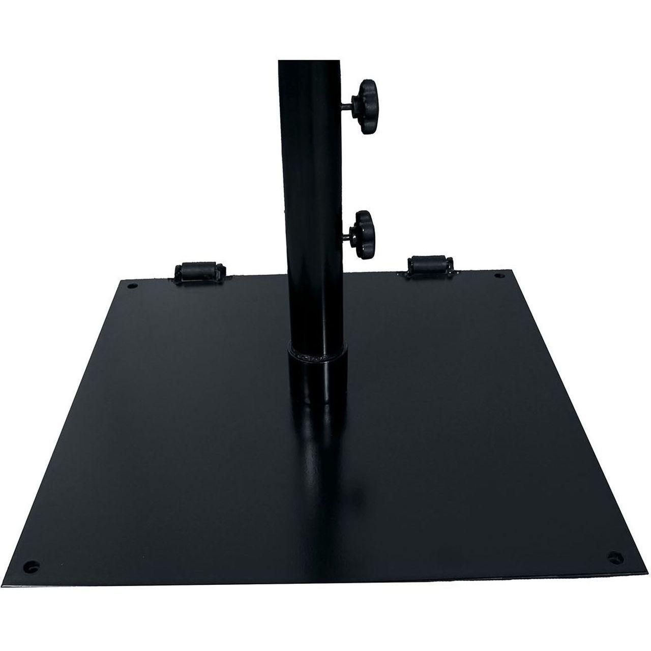 "Grosfillex Flat 24"" Square Umbrella Base in Black"
