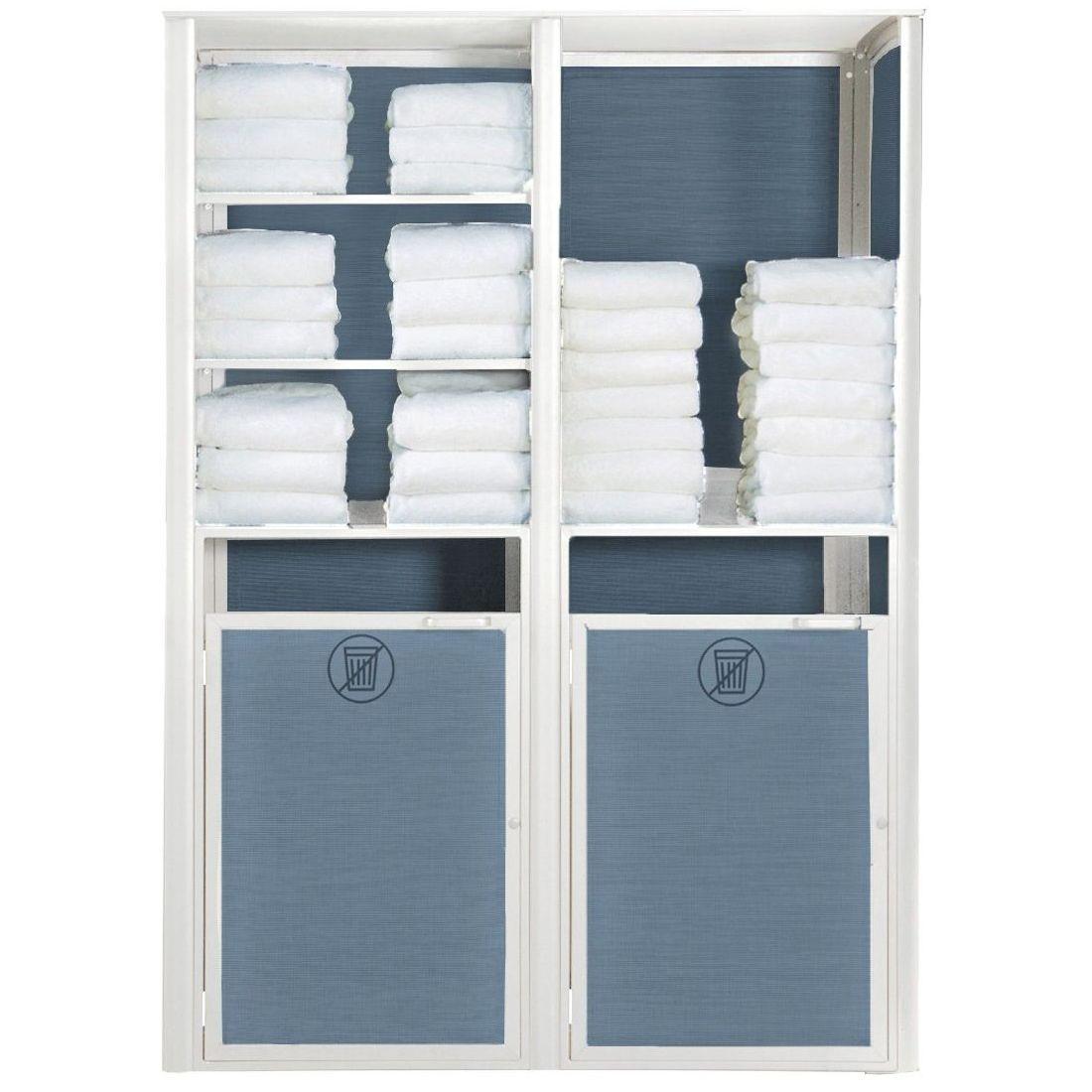 Grosfillex Sunset Towel Valet Double Unit in Blue/Glacier White