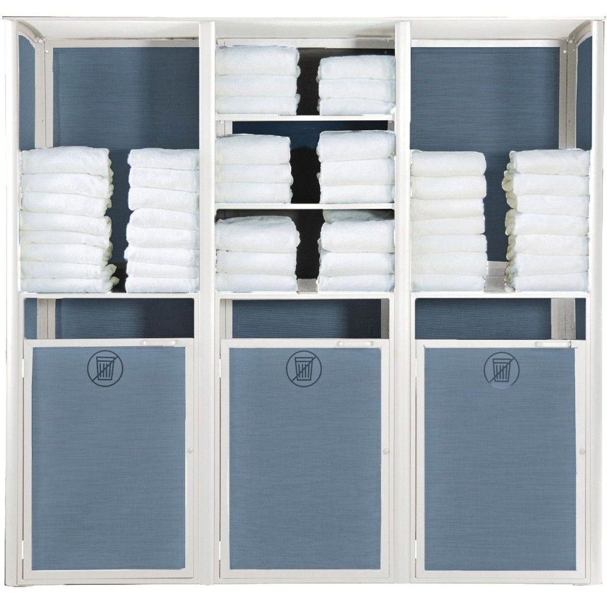Grosfillex Sunset Towel Valet Triple Unit in Blue/Glacier White