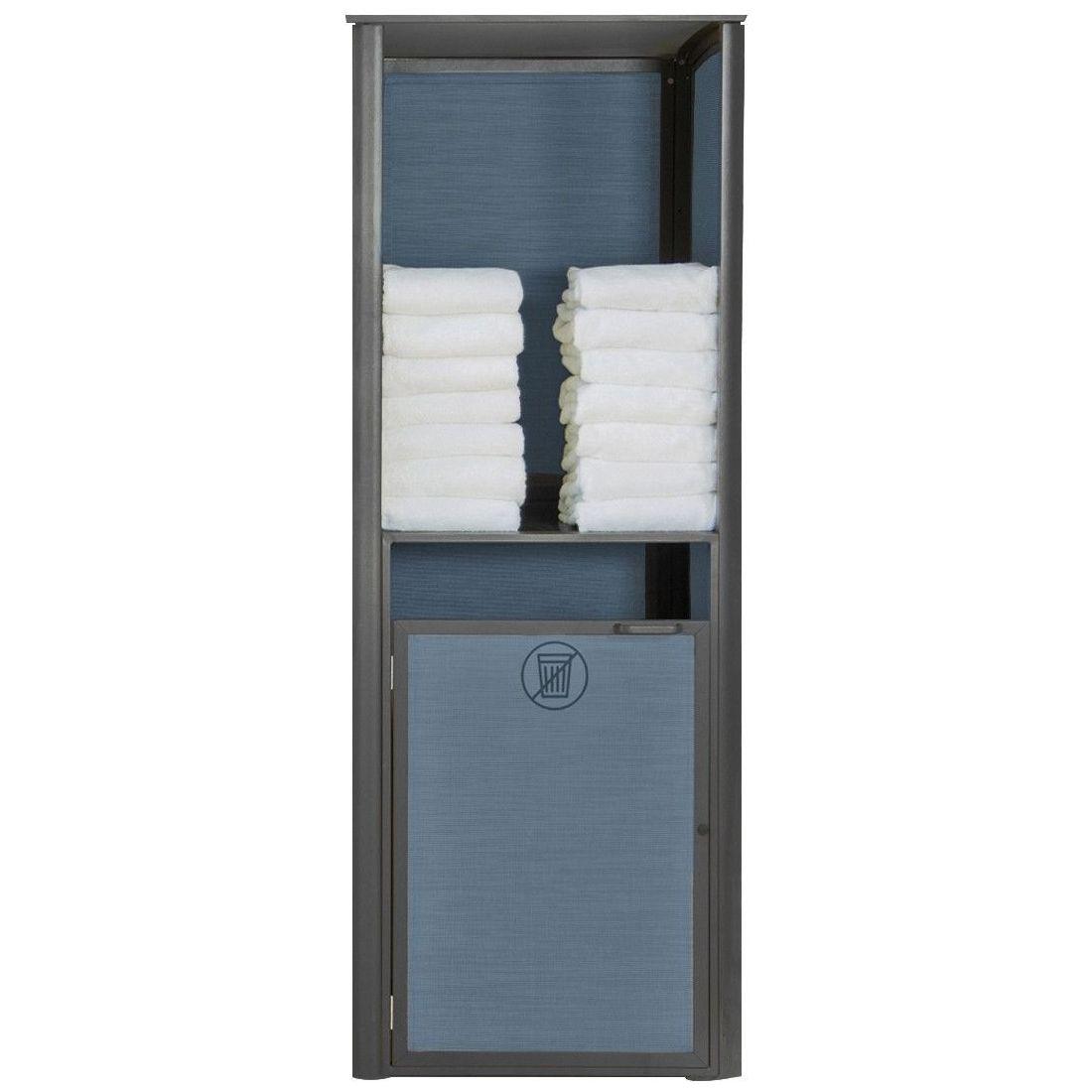 Grosfillex Sunset Towel Valet Single Unit in Solid Gray/Volcanic Black