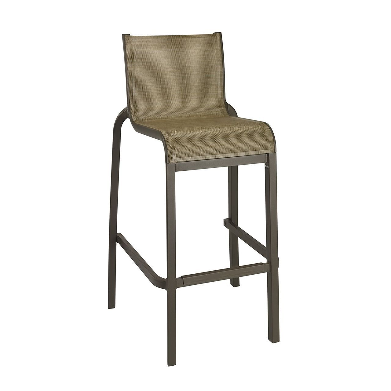 Grosfillex Sunset Armless Barstool in Cognac/Fusion Bronze