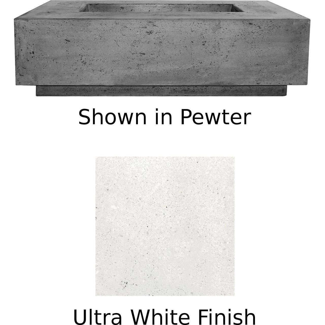 Prism Hardscapes Tavola 1 Fire Table in Ultra White - LP