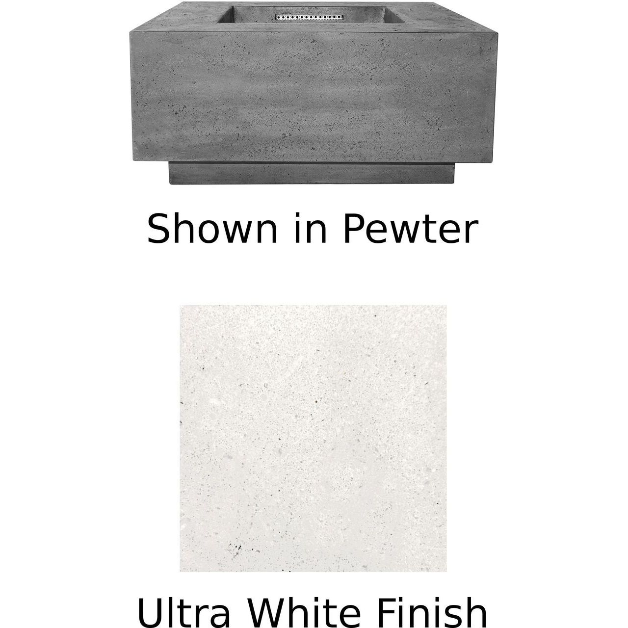 Prism Hardscapes Tavola 2 Fire Table in Ultra White - LP