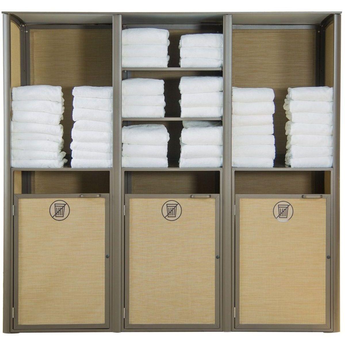 Grosfillex Sunset Towel Valet Triple Unit in Cognac/Fusion Bronze