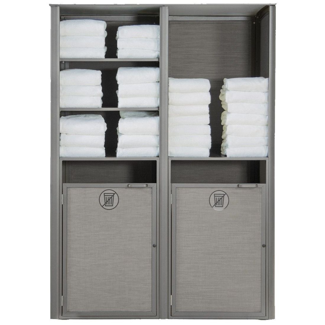 Grosfillex Sunset Towel Valet Double Unit in Solid Gray/Platinum Gray