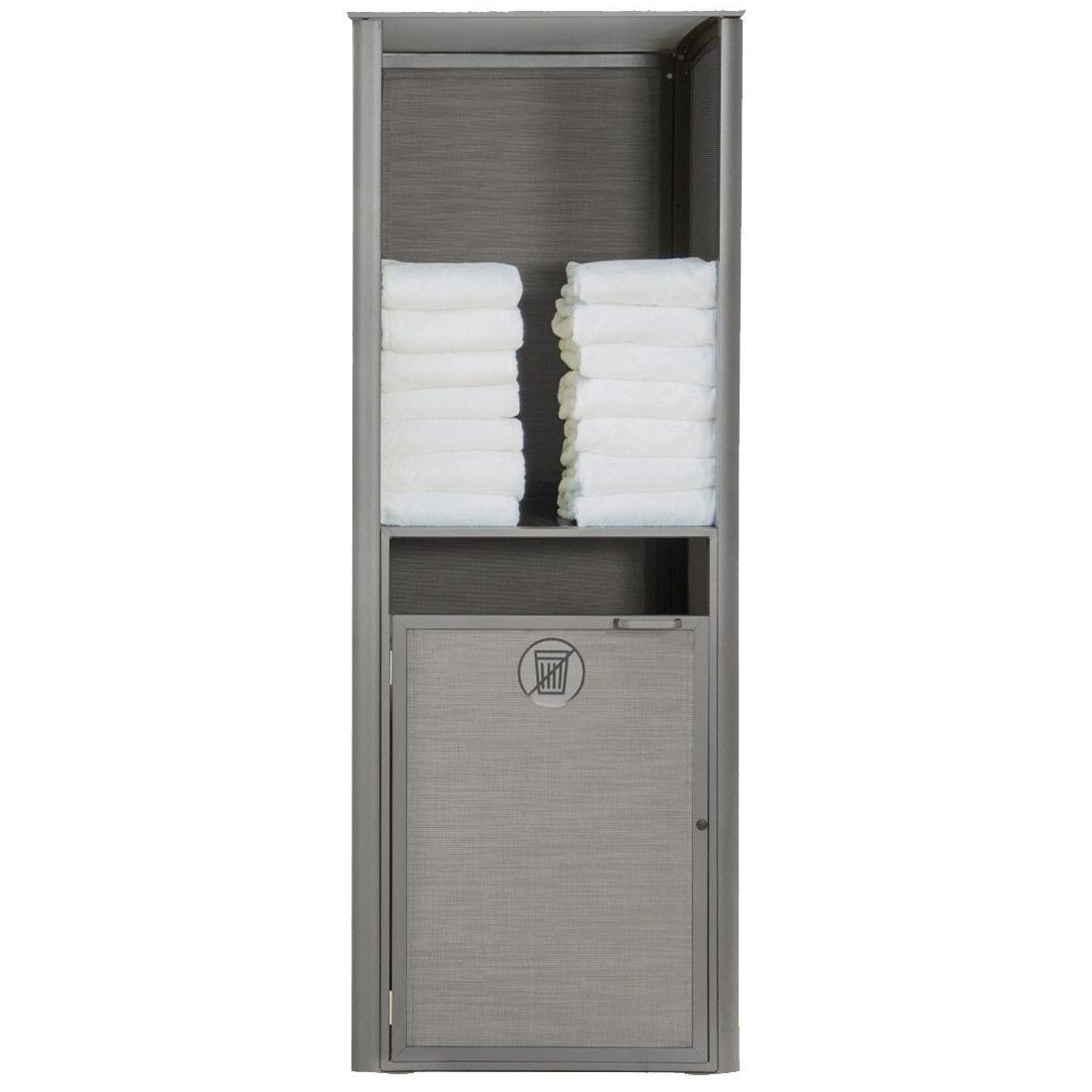 Grosfillex Sunset Towel Valet Single Unit in Solid Gray/Platinum Gray