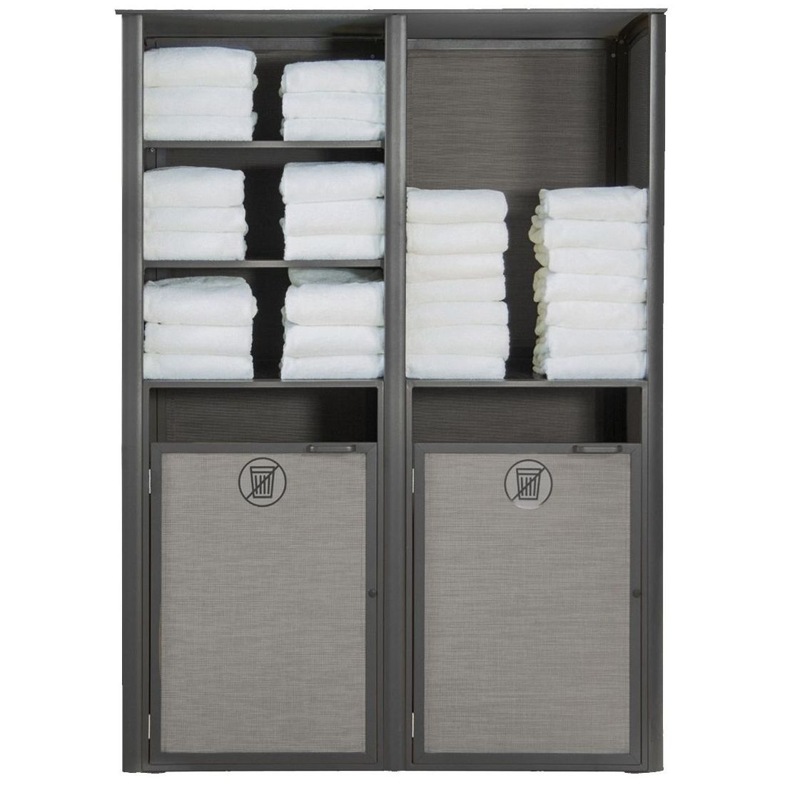 Grosfillex Sunset Towel Valet Double Unit in Solid Gray/Volcanic Black