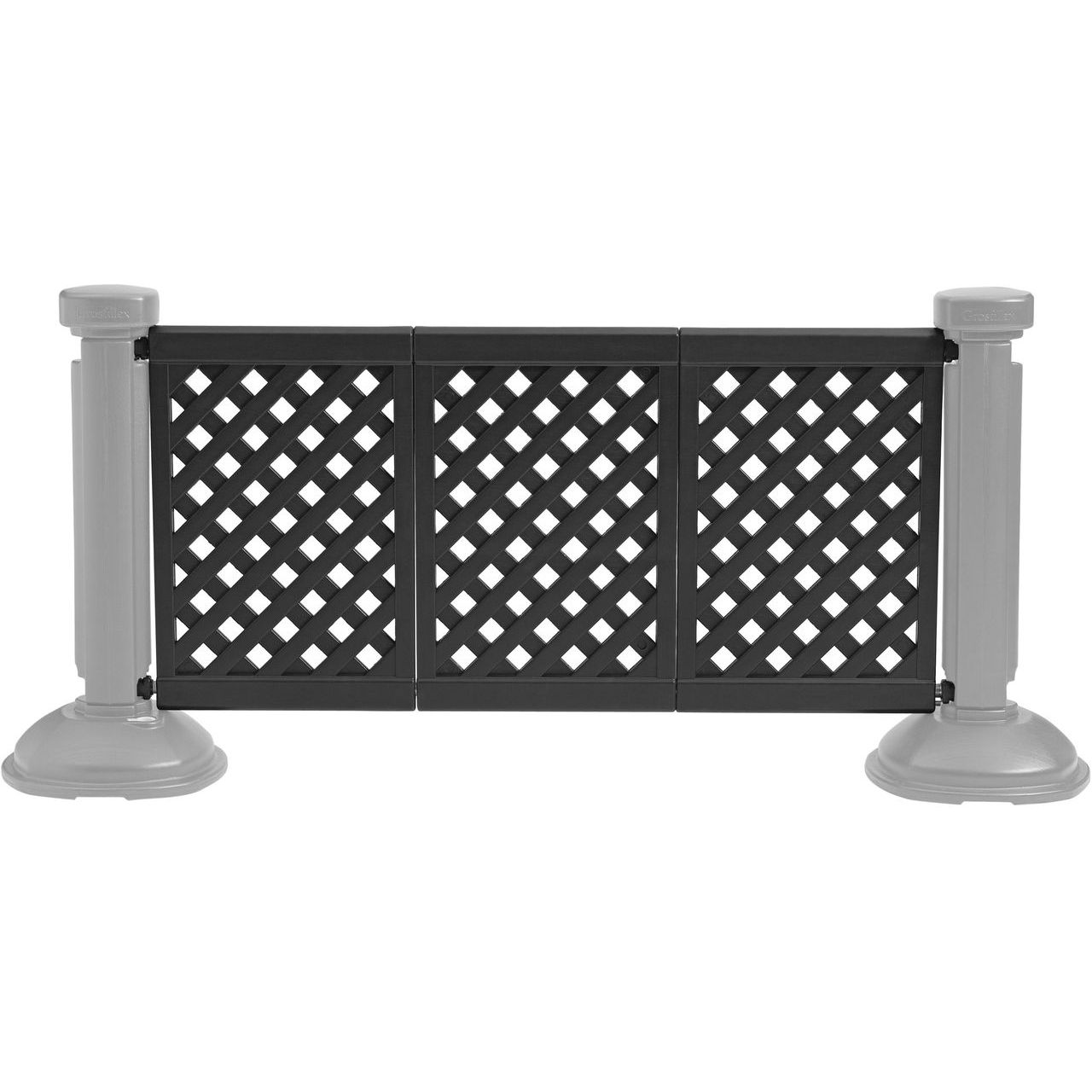 Grosfillex 3-Panel Section of Portable Fencing in Black