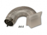 """Superior AK4 Complete 4"""" Outside Air Kit with Collar, Hood and 3' Flex"""