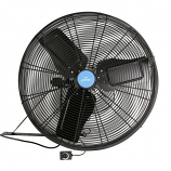 "iLiving 24"" BLDC Wall/Ceiling Mount Fan - Black"