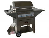 Lazy Man Masterpiece Mobile Outdoor Stainless Steel Propane Gas Grill