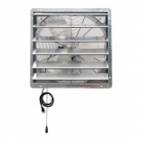 "iLiving 24"" Shutter Exhaust Attic Garage Grow Ventilation Fan"
