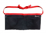 Zenport AG4030 Heavy Duty Black Canvas Double Pocket Apron Pouch