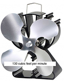 4 Blade Fan for Wood Stoves - Silver