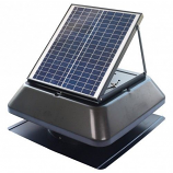 "iLiving Smart Solar Attic 14"" Square Exhaust Fan - Black"