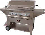 Lazy Man Masterpiece Series Mobile Outdoor Propane Gas Barbecue Grill
