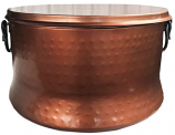 Deeco DM-1101-GH Copper Plated Hose Holder/Storage Pot with Lid