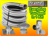 Lifetime 4X25 Single Wall Chimney Liner Kit