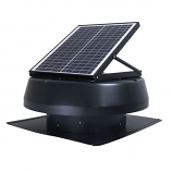 "iLiving ILG8SF301 Smart Solar Attic 14"" Round Exhaust Fan - Black"