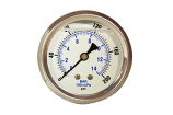 Zen-Tek 0-200 PSI Back Mount Liquid Glycerin Pressure Gauge