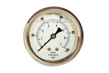 Zen-Tek 0-100 PSI Back Mount Liquid Glycerin Pressure Gauge