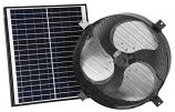 "iLiving ILG8SF303 Smart Solar Attic 14"" Round Exhaust Fan - Black"