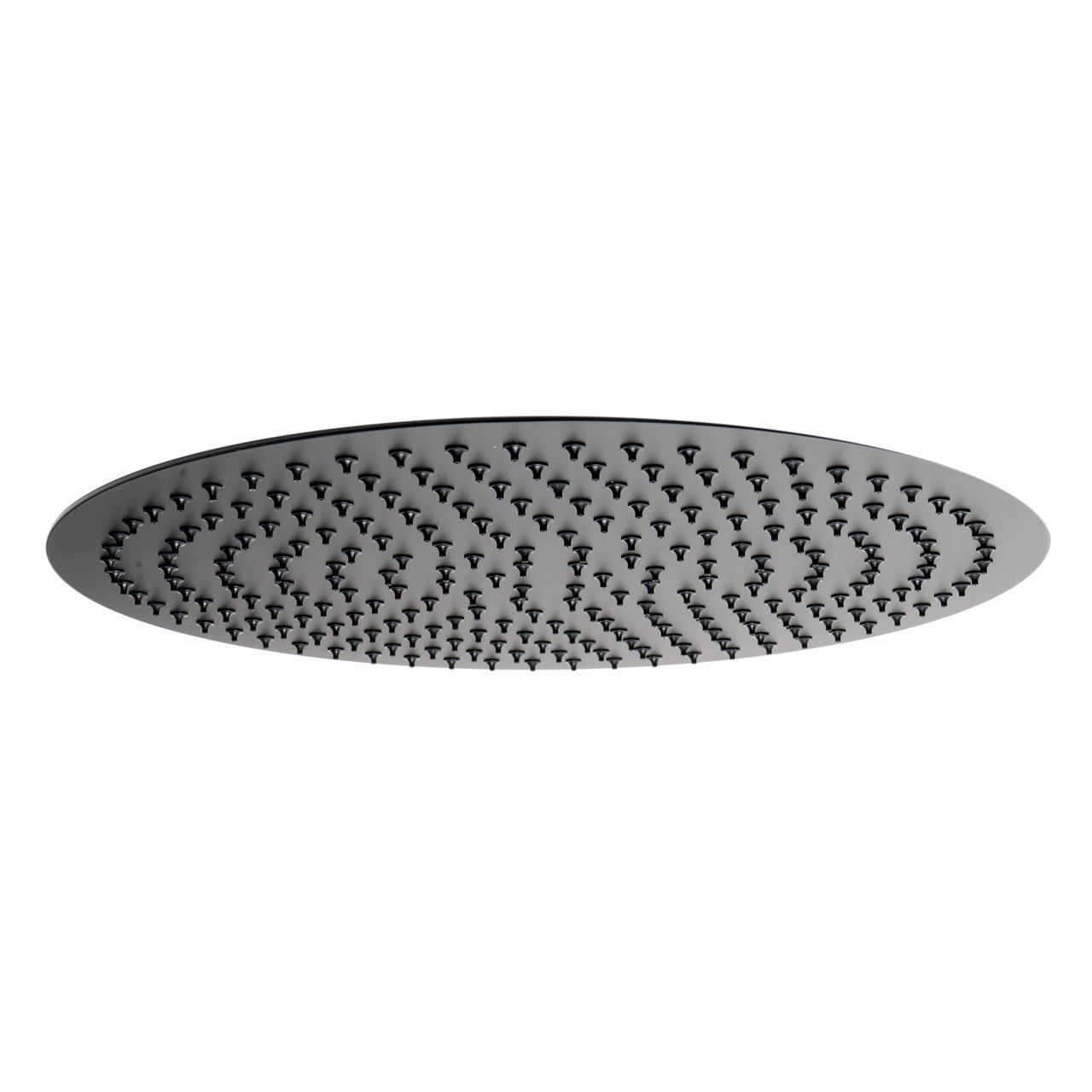 "ALFI 16"" Round Black Matte Stainless Steel Ultra-Thin Shower Head"