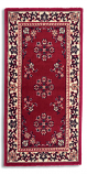 "Oriental 56""X26"" Rectangular - Burgundy"